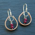 Ruby Bulb Earrings. Sterling silver and bronze. $105.