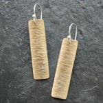 Birch earrings.14k Gold-filled with sterling silver accents.
