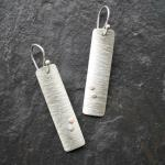 Birch earrings.  Sterling silver with 14k gold-filled accents.
